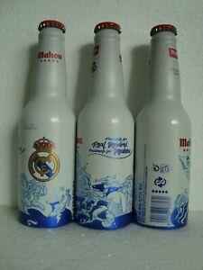 "MAHOU ""REAL MADRID SOCCER CLUB"" Aluminium Beer Bottle from SPAIN 2019"