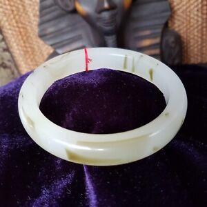 Bangle Bracelet JADE Jadeite Gorgeous 100% Natural HQ Black & White UK Seller