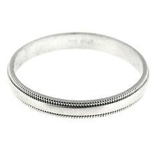 Platinum 3 MM Unisex Wedding Band Fashion Ring Size 8