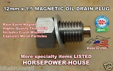 12mm MAGNETIC OIL DRAIN PLUG BOLT KAWASAKI KLX650 KLR650 KLX110 KLX140 KLX140L