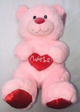 "Pink Bear Plush Valentines Adorbs Heart 15"" Walmart NWT"