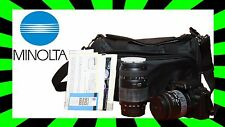 Konica Minolta Maxxum 70 with lans and caring bag. 28-90mm and 70-300mm