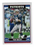 2006 Topps Chrome Refractor Tom Brady New England Patriots