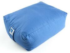 Großes Meditationskissen blau, Bequem sitzen beim Meditieren, Große Sitzfläche
