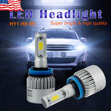 AUXITO 2X 8000 Lumens Extremely Bright H11 H8 COB LED Headlight High/Low beam