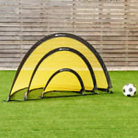 Set of 2 Portable Pop-Up Soccer Goals 6' 4' 2.5' for Backyard w bag and 2 stakes