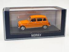NOREV 1:43 AUTO DIE CAST RENAULT 4 1974 ORANGE ARANCIO ART 510039