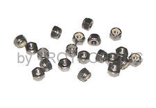 20-SS #12-24 HEX LOCK NUTS NYLOC NYLON STAINLESS STEEL FASTENERS HARDWARE PARTS