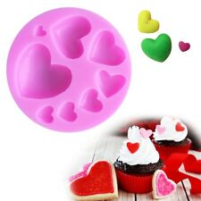Heart Shape Silicone Fondant Mold DIY Chocolate Candy Cake Decorating Tool Molds