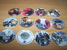 15th  Print Set  5 Cent AAFES  Pogs  2011  printing AU. Condition  All  12 pogs