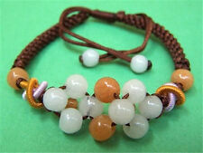 Adjustable Delicately Braided Colorful Jade Beaded Bracelet -Great for kids!