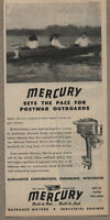 1945 Ad Mercury Outboard Motors Sets the Pace Postwar