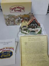 """4"""" David Winter Cottages 1993 Birth Day Cottage Arches Thwonce w/Coa + Box Nice"""