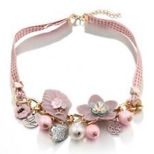 Fashion Statement Necklace Pendants Choker Jewelry Simulated Pearl Flower Collar