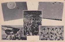 A789) WW2, AVIAZIONE MILITARE ITALIANA, PARACADUTISTI, 5 VEDUTINE.