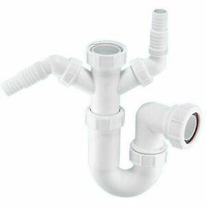 Mcalpine WM11 Sink Trap with Dishwasher & Washing Machine Connections 40mm x 2