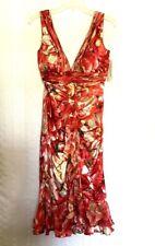 NEW Alberto Makali 100% silk  Dress with Scarf  Sz 10