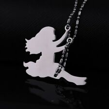 Stainless Steel Swing Swinging Girl Lady Designer Charm Pendant Necklace