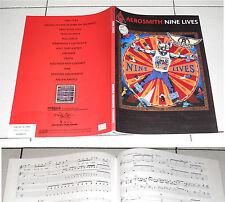 Spartiti AEROSMITH Nine lives GUITAR TAB PERFETTO Songbook Spartito Sheet