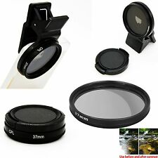 37MM Professional Camera Lens Circular Polarizer Kit Clip on for IPhone 6/6s