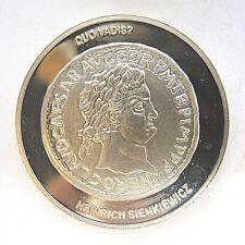 Aus Nachlass Medaille Münze Denar Nero Neusilber (cu,ni)