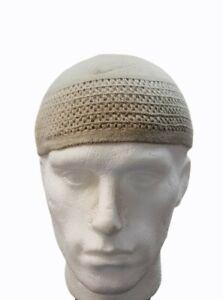 Mens knitted Skull Cap Muslim Islamic Prayer Hat Topi  Head Wear Clothing Gift