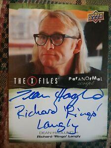 Dean Haglund Inscription Autograph Card Richard Ringo Langly X Files Ufos And...