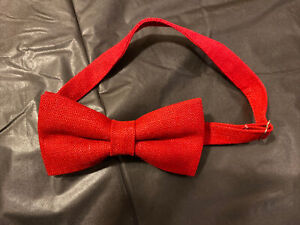 NEW  TODDLER//LITTLE BOYS  BOW TIES RED//NAVY//TAN LINEN //MADE IN THE USA
