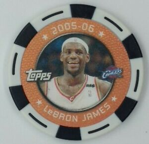 2005-06 Topps NBA Collector Chips White Lebron James, Cleveland Cavaliers