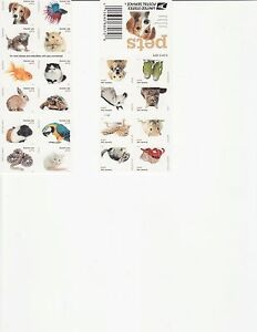 PETS STAMP BOOKLET -- USA #5106-5125 (5125a) FOREVER 2016