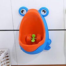 Frog Potty Kid Child Boy Baby Bathroom Toilet Urinal Pee Trainer Orange Blue