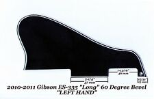 Gibson ES-335 LEFT HAND LONG 2010-2011 Pickguard 5-Ply Black 60 Deg Project NEW