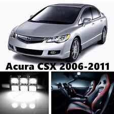10pcs LED Xenon White Light Interior Package Kit for Acura CSX 2006-2011