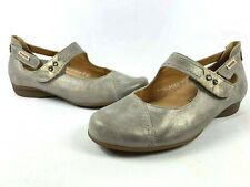 3e4503edcfd Mephisto Mobils Ballet Pumps Flats Womens Size 7 Silver Taupe Leather RRP  $330