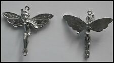 PEWTER CHARM #172 FAIRY - 2 bails double sided joiner (40mm x 40mm) Tinker