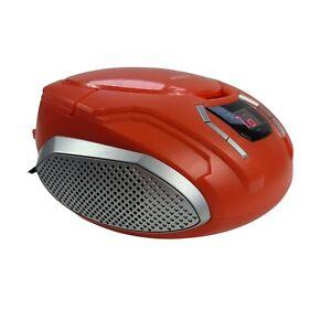 SYLVANIA SRCD261 Portable CD Players with AM/FM Radio - Orange & Black