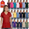 NEW Hanes Women's 4.5 oz 100% Cotton Short Sleeve nano-T V-Neck T-Shirt M-S04V