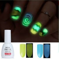 BORN PRETTY 10ml UV Gel Nail Polish Soak Off Fluorescent Glow in Dark Varnish