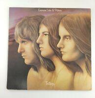 Emerson Lake and Palmer Trilogy LP Album Vinyl 1972 Cotillion Records Rock