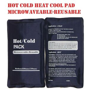 HOT COLD HEAT COOL PAD Microwave/Freezer REUSABLE Pack Sport Muscle Injury/Pain