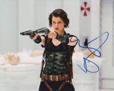 Milla Jovovich signed Resident Evil 8x10 photo