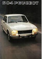 Peugeot 504 Saloon Ti GL L Original 1976-77 UK Sales Brochure Pub. No. PP892