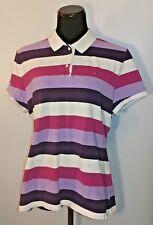 Tommy Hilfiger Womens Shirt XXL Slim Fit Polo purple striped stretch collared