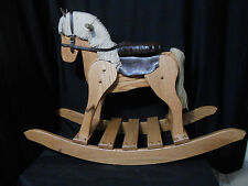 Wooden Medium Rocking Horse Hobby Horse  Solid Oak Kids Toy Provincial Stain