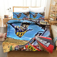 3D Extreme Motorcycle Quilt Cover Set Pillowcases Duvet Cover 3pcs Bedding 142
