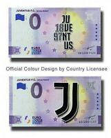 BILLET 0  EURO JUVENTUS DE TURIN   COULEUR  ITALIE 2021  NUMERO DIVERS 2 BILLETS