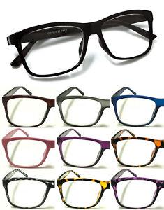 Big Lens Design Trendy Reading Glasses +0.00~ +4.00 Unisex Lady Nerd Retro Geek