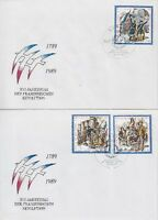 DDR FDC 3258 - 3260 auf 2 FDCs mit SST Berlin Revolution 1989, first day cover