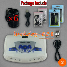 2018 Dual MP3 Ionic Detox Cell Foot Bath Spa Cleanse Machine 6 Arrays ON SALE!!!