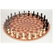 Chess Sets And Boards 3 Player Round Circular 48 Pieces Game Toy Gift New